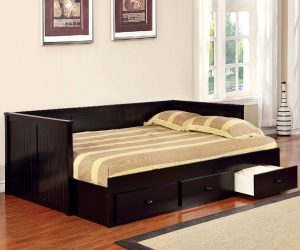 Sofa Bed Minimalis Dark Brown