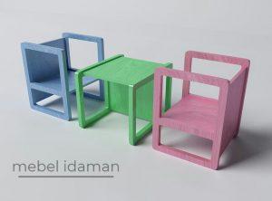 Meja Makan Minimalis Unik Bentuk Kotak